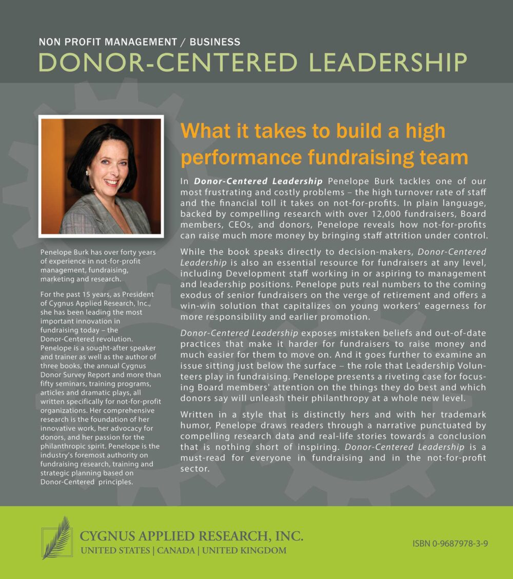 Donor Centered Leadership Back Cover