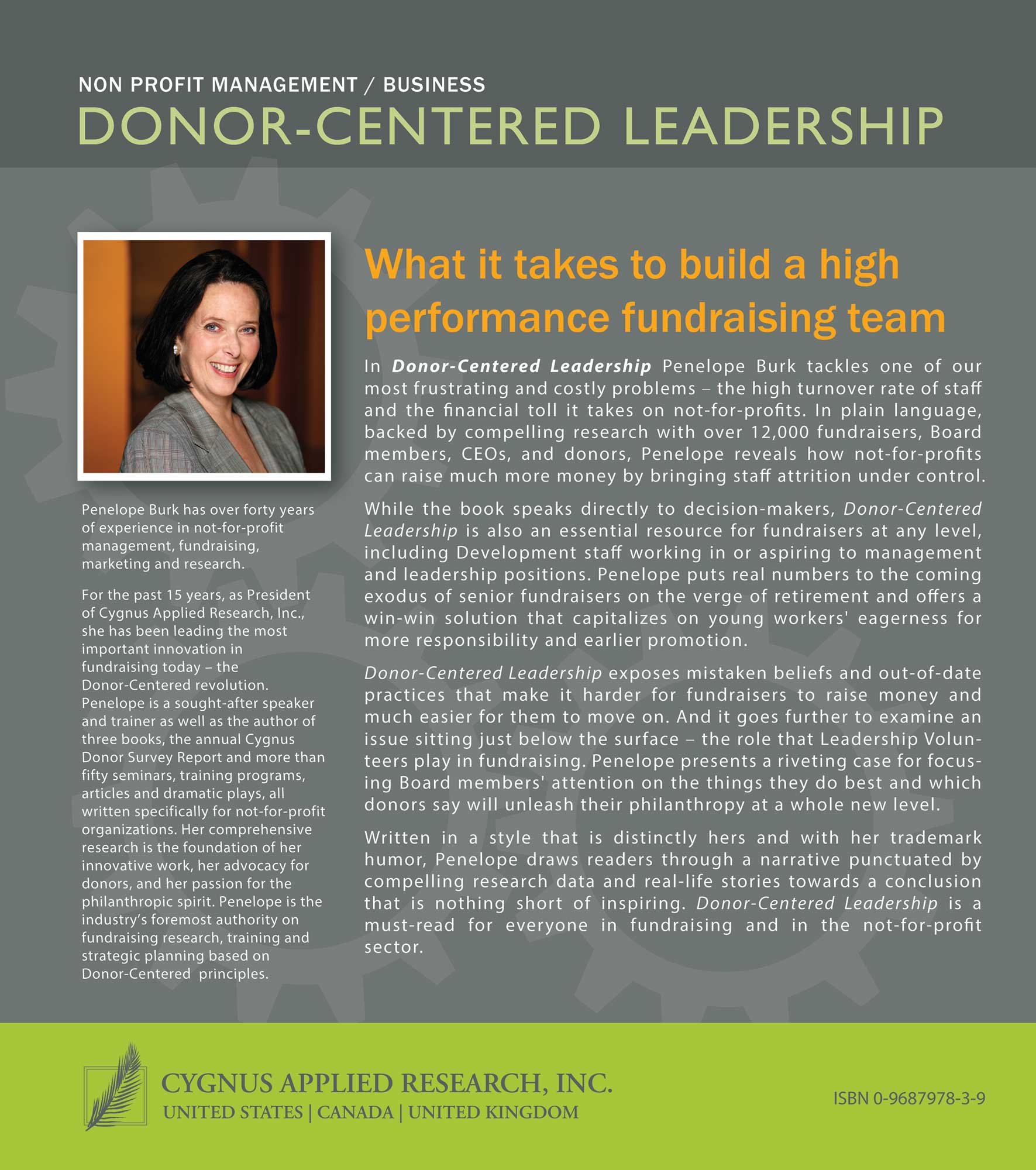 Donor-Centered Leadership Back Cover