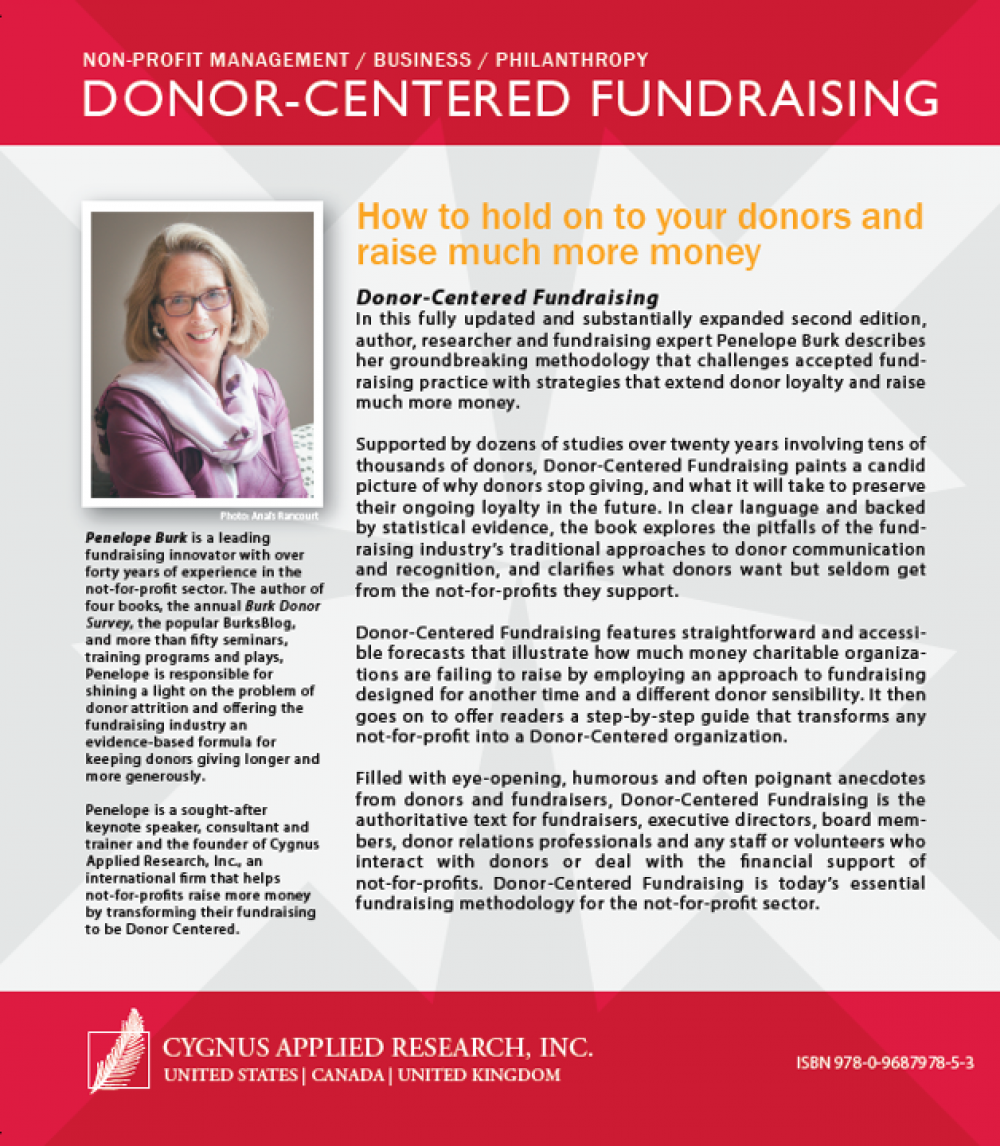 Donor-Centered Fundraising, Second Edition Back Cover